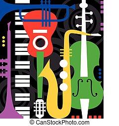 כלים, שחור, מוסיקה