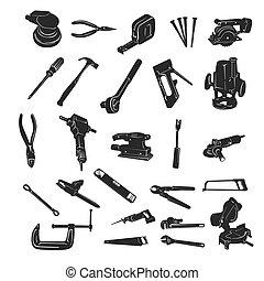 כלי של בניה, וקטור, צללית