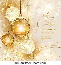 כל, זהב, editable, רקע, קל, חג המולד