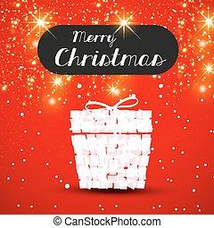 כל, מתנה, editable, חג המולד, קל