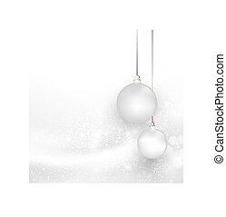 כל, רקע, editable, חג המולד, קל, פתיתת שלג, כסף