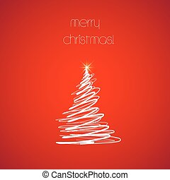 כל, רקע, editable, עץ, קל, חג המולד, אדום