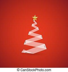 כל, editable, עץ, וקטור, קל, חג המולד