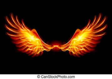 כנפיים, להשרף