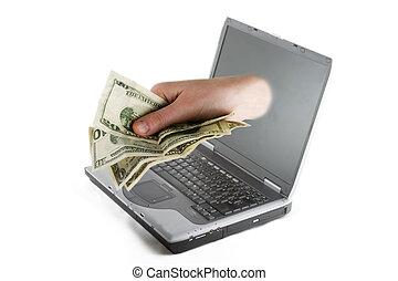 כסף, אונליין