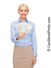 כסף, אישת עסקים, דולר, צעיר, פדה
