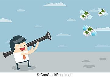 כסף, איש עסקים, כוון