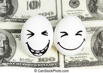 כסף, ביצים, פנים