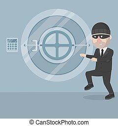 כסף, גנב, איש של עסק