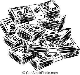 כסף, דולרים אמריקאיים, דוגמה