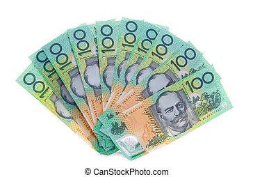 כסף, דולר, ראה, אוסטרלי, חשבונות, 100