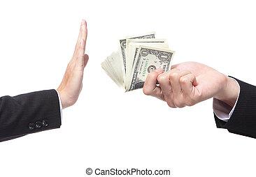 כסף, הצע, לסרב, איש של עסק
