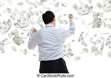 כסף, חבק, איש של עסק