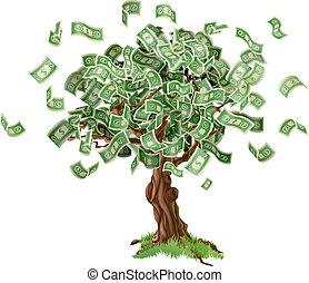 כסף, חיסכונות, עץ