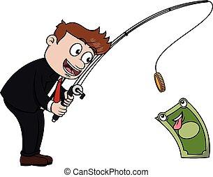 כסף, לדוג, איש של עסק
