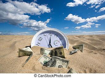 כסף, מושג, אבד, זמן