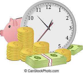 כסף, מושג, זמן