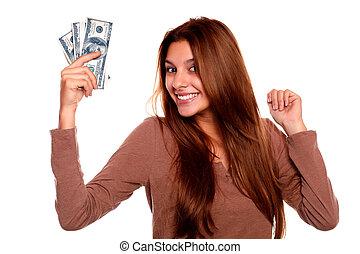 כסף, מקסים, אישה, פדה, צעיר