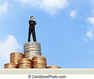 כסף, עמוד, איש של עסק