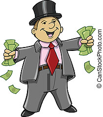 כסף, עשיר, איש של עסק