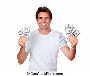 כסף, פדה, היספני, מבוגר, להחזיק, charmismatic