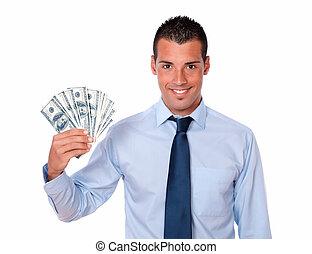 כסף, , פדה, מבוגר, להחזיק, בחור, יפה