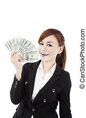 כסף, שמח, אישת עסקים