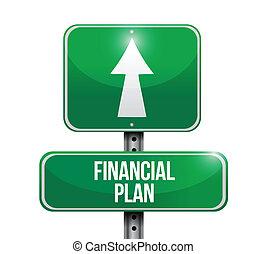 כספי, דוגמה, חתום, עצב, התכנן, דרך