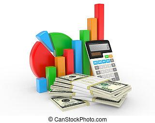 כספי, עסק, הצלחה, להראות, שרטט, שווק, אחסן