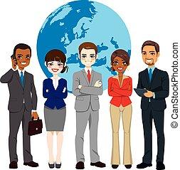 כפולי, גלובלי, אנשי עסק, אתני, התחבר