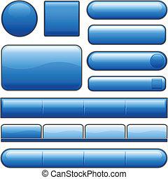 כפתורים כחולים, מבריק, אינטרנט