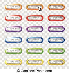 כפתורים, רשת, צבע