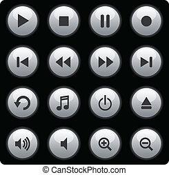 כפתורים, תקשורת, כסף