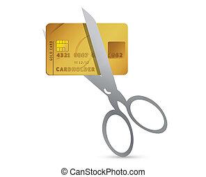 כרטיס אשראי, מספריים