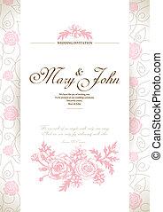 כרטיס, הזמנה, חתונה