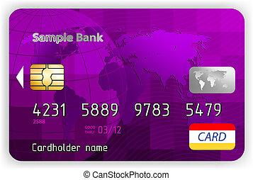 כרטיס, הכנסה לכל מניה, זכה, וקטור, סגול, חזית, 8, הבט.