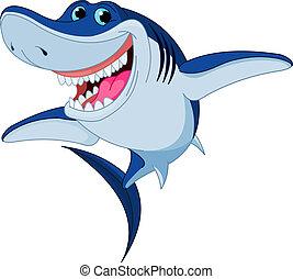 כריש, מצחיק, ציור היתולי