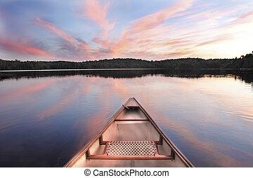 כרע, שקיעה, אגם, שוטית