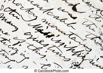 כתוב, מכתב, דית