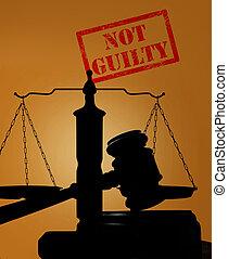 לא אשם, פסק דין