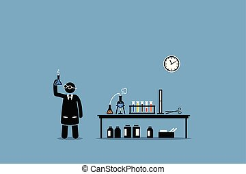 לבחון, שלו, מעבדה, מדען כימי, יצא, experiment.