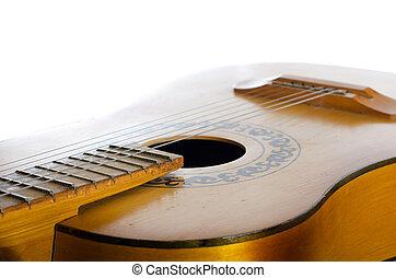 לבן, אקוסטי, הפרד, גיטרה