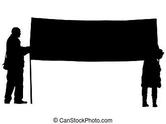 לבן, דגל, אנשים של רקע