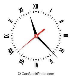 לבן, וקטור, רקע, שעון