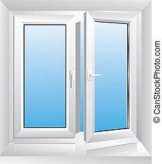 לבן, חלון, פלסטיק