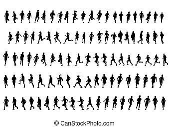 לבן, מרתון, אנשים של רקע