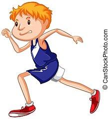 לבן, ספורטאי, לרוץ, רקע