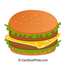 לבן, צ'יזבורגר, רקע