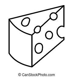 לבן, רקע., page., תאר, לצבוע, הפרד, גבינה