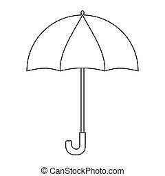 לבן, תאר, הפרד, ציור היתולי, מטריה, לצבוע, page., רקע.